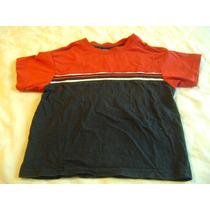 Camisa Azul Marino Y Rojo Bebe Niño 36 Meses Manga Corta
