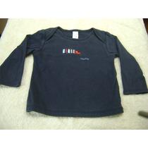 Camisa Manga Larga Bebe Niño18-24 Meses Gap Azul Marino