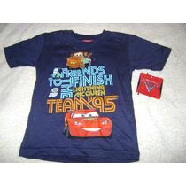 Camisa Azul Marino Bebe Niño 3x Cars Nueva!!