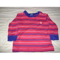 Camisa Rojo Manga Larga Bebe Niño 3-6 Meses Ralph Lauren