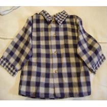 Camisa Tipo Franela Para Bebe Niño Manga Larga 6-9 Meses