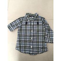 Camisa Manga Larga 18-24 Meses Baby Gap 100 Algodón .