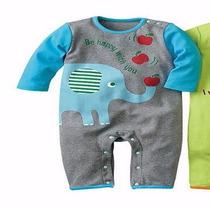 Mameluco Gris Pijama De Elefante - 6 - 9 Meses Ropa De Bebé