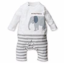 Mameluco Pijama De Elefante - 6 - 9 Meses Ropa De Bebé