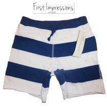 Shorts 18 Meses Nino Nina Bebe Azul Blanco Macy