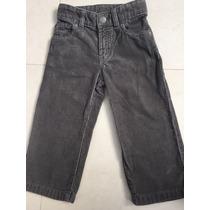 Pantalón De Pana Gris Talla 2 Años Marca Baby Gap Americana