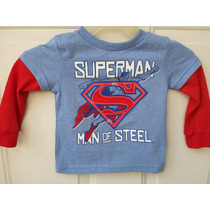 Playera Superman Original Dc Comics Importada Para Niño