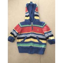 Suéter Con Gorro Ralph Lauren Talla 3 Meses . Ropa Americana