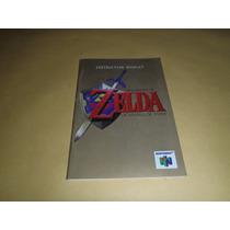 Manual The Legend Of Zelda Ocarina Of Time Excelente Estado