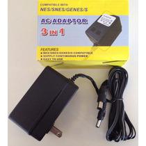 Eliminador Nes Snes Genesis 3 En 1 Ac Adapter Adaptador Ac