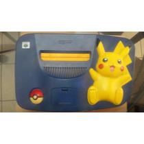 Consola N64 Pikachu Ppkemon Original Completa Control Y Tapa