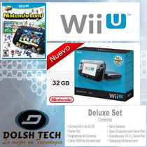 Nintendo Wiiu Nuevo Y Sellado Version Deluxe 32gigas Y Juego