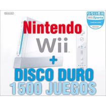 Nintendo Wii Con Disco Duro + 1500 Juegos Y Promociones