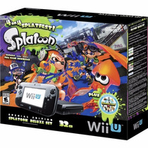 Nintendo Wii U 32gb Consola Splatoon Special Edition