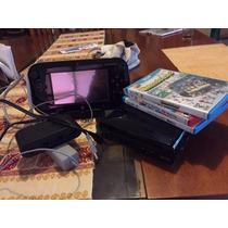 Wii U 32 Gb Con Adaptador De Controles Game Cube Y 3 Juegos.