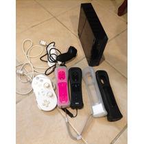 Remate Consola Wii Con Juegos, 5 Controles Y 4 Fundas