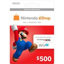 Nintendo Eshop Cards Tarjetas Prepago Wiiu/3ds [$500] Remato