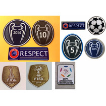 Set De Parches Real Madrid Barcelona Eufa Campeones 2014