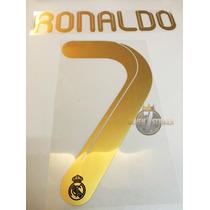 Tipografia Ronaldo Real Madrid 11-12 Numeracion Nombre