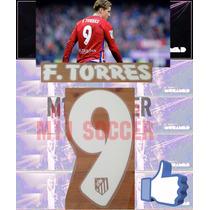Estampado Atletico De Madrid 15-16 #9 F. Torres, Vinil Blan