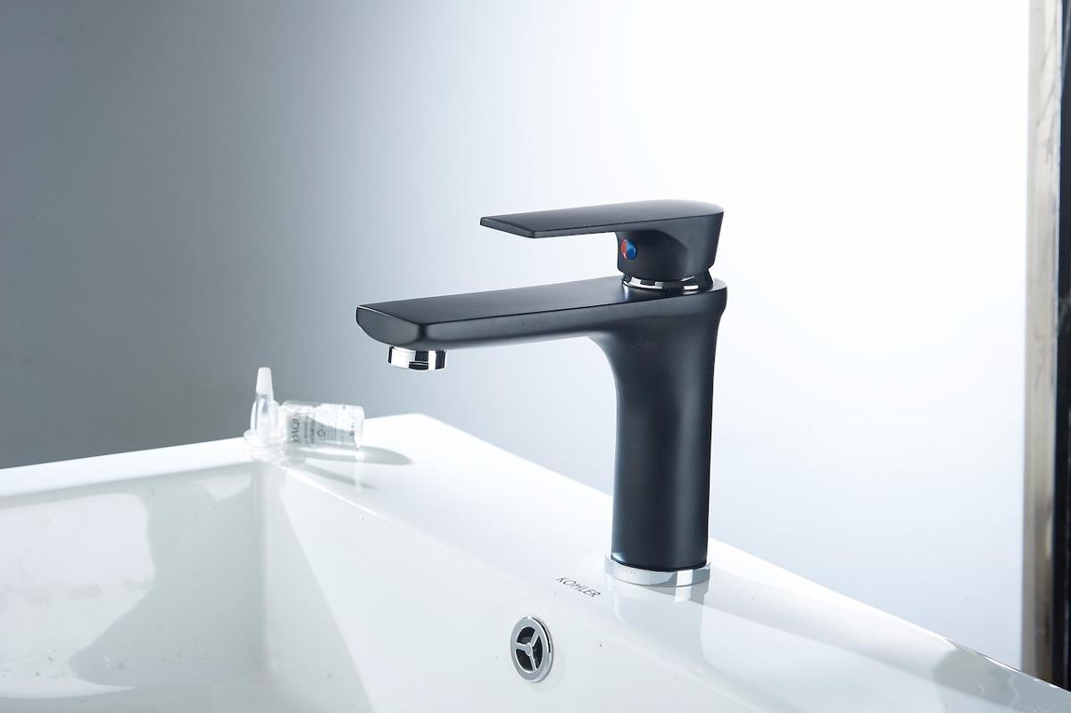 Odbo hs9008 monomando mezcladora para lavabo color negro for Llave mezcladora para lavabo precio
