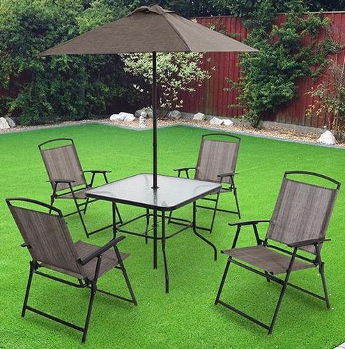 Oferta juego de jard n monaco mesa sillas y paraguas for Ofertas en mesas y sillas