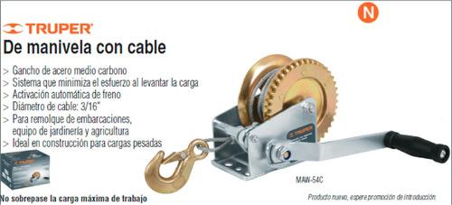 Oferta Malacate De Manivela Con Cable 300kg Truper Grua