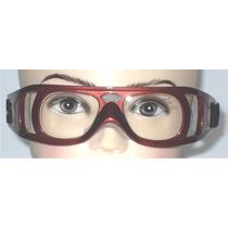 Goggle Deportivo Para Graduar Oftalmico Policabonato Vino