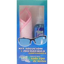 Opti Clear Kit Microfibra Y Solucion Limpiadora 70 Ml
