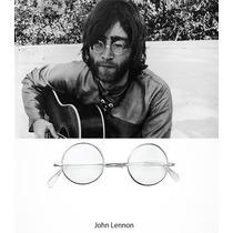 Lentes John Lennon Oficial - Armazon Titanio - Retro Beatles
