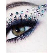 #2 Delineador Cuentas Cristal Ojos Maquillaje Sombra Pestaña