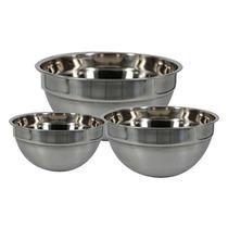 Set De Bowls De Acero Inoxidable Queen Sense 3 Piezas-gris