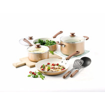 Bateria De Cocina Trisha Yearwood 14 Pza Ceramica Cobre
