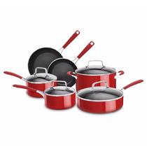 Bateria De Cocina Kitchenaid Kcas10er Aluminio 10 Pza Roja