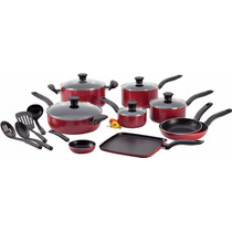Bateria De Cocina Tfal 18 Piezas Rojo Negro A Elegir