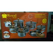 Batería De Cocina Acero Inoxidable Royal Pacific16 Piezas