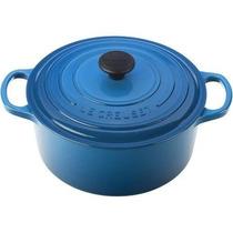 Caserola Color Azul Con Tapa De Hierro Fundido