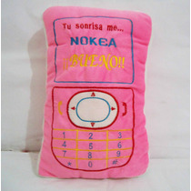 Celular D Peluche Nokia Rosa Kawaii Cojín Cute Telefono