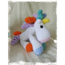 Unicornio Tejido A Mano