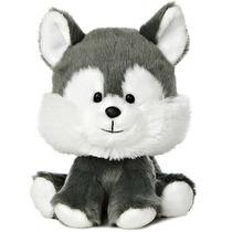 Husky Lobo Wobbly Bobblees Juguetes Peluche Aurora Importado