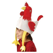 Deluxe Relleno Felpa Pollo Gallo Sombrero Del Partido Del Tr