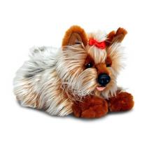 Perro De Juguete Suave - Keel Toys 35cm Blanca Y Brown Yorki