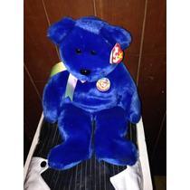 Ty Beanie Babies Oso Color Azul Tamaño Mediano Nuevo
