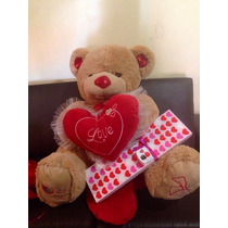 Oso Increible Con Chocolates Corazon Y Envoltura $1950.00