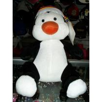 Pinguino D Peluche Pingui C/gorro Art Nuevo Etiquetado 32 Cm