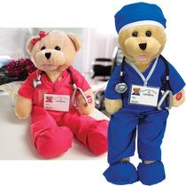 Nuevo (set) Animated Canto Felpa Teddy Bears Enfermera Y Doc