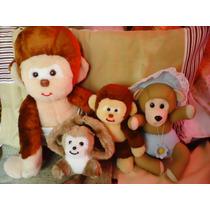 Lote De Muñecos De Peluche. Monos