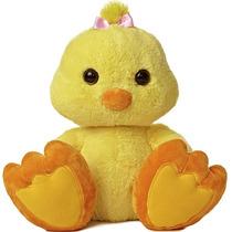 Pollo Paton Taddle Toes Oso Peluche Aurora Importado 45 Cm