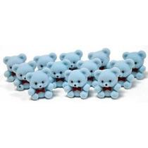 1 Mini Flocked Baby Blue Teddy Bears - Paquete De 24