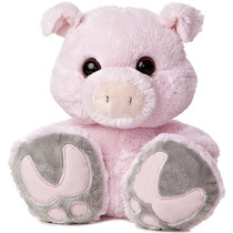 Cerdo Puerco Paton Taddle Toes Oso Peluche Aurora Importado